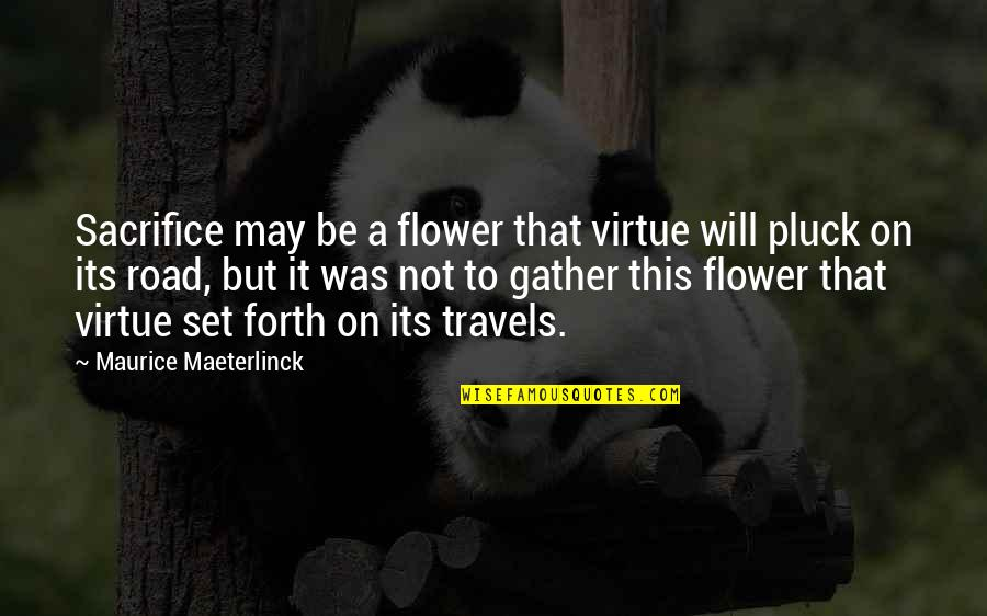 Sesa Refumee Quotes By Maurice Maeterlinck: Sacrifice may be a flower that virtue will