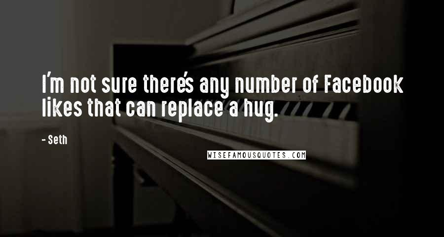 Seth quotes: I'm not sure there's any number of Facebook likes that can replace a hug.