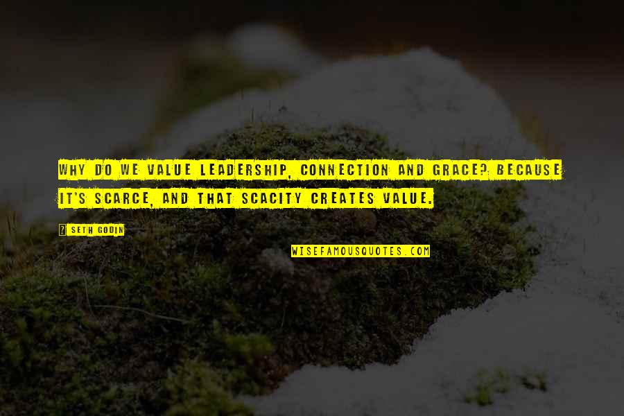 Seth Quotes By Seth Godin: Why do we value leadership, connection and grace?