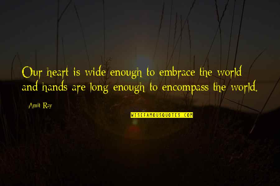 Shadow Catchers Quotes By Amit Ray: Our heart is wide enough to embrace the
