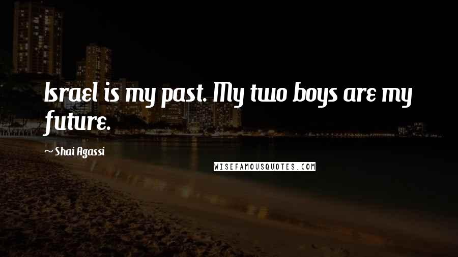 Shai Agassi quotes: Israel is my past. My two boys are my future.