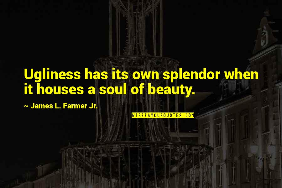 Shake Back Quotes By James L. Farmer Jr.: Ugliness has its own splendor when it houses