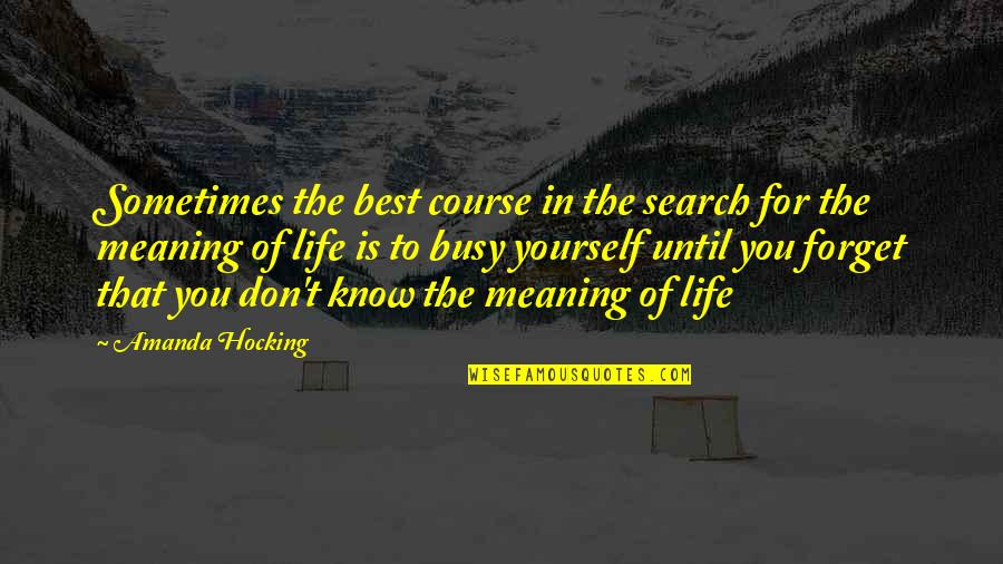 Shakespeare Morocco Quotes By Amanda Hocking: Sometimes the best course in the search for