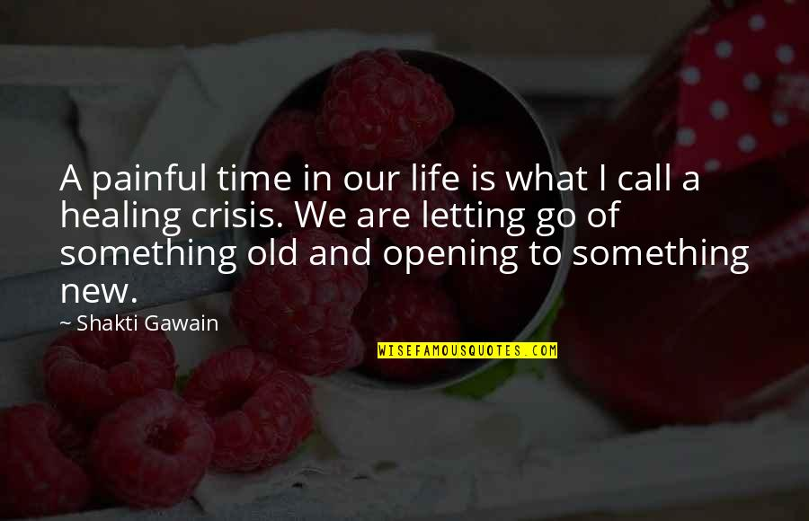Shakti Quotes By Shakti Gawain: A painful time in our life is what