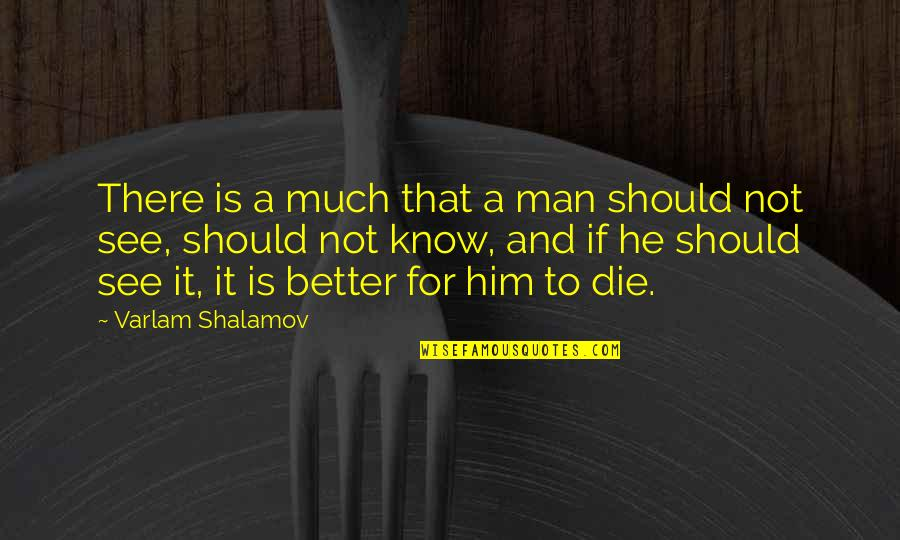 Shalamov's Quotes By Varlam Shalamov: There is a much that a man should