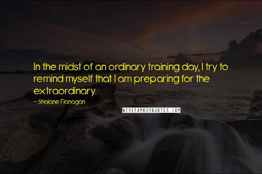 Shalane Flanagan quotes: In the midst of an ordinary training day, I try to remind myself that I am preparing for the extraordinary.