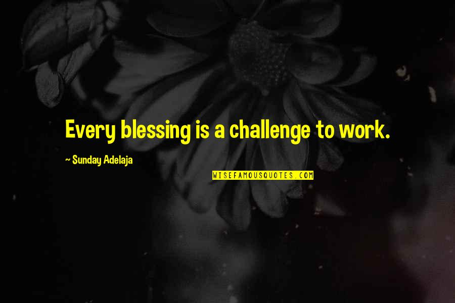 Shalini Quotes By Sunday Adelaja: Every blessing is a challenge to work.