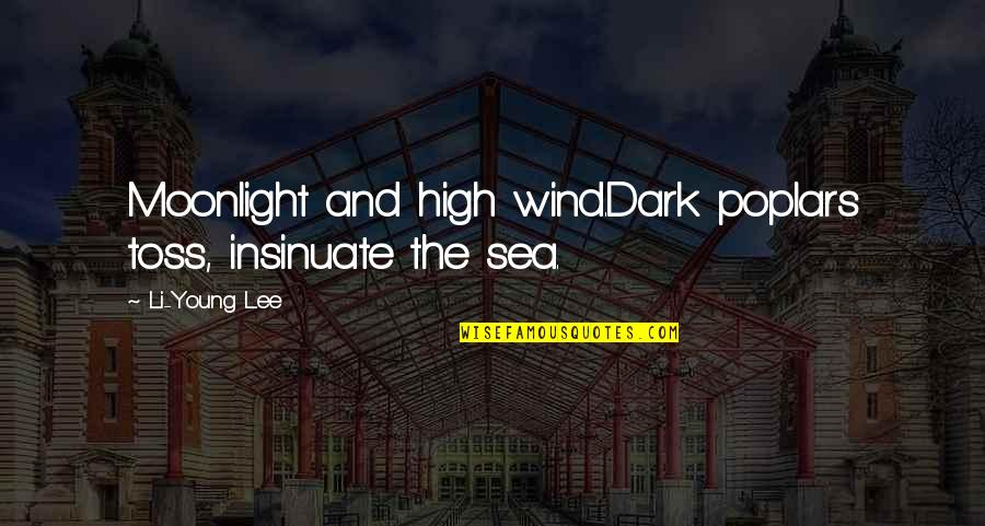 Shannon Noll Quotes By Li-Young Lee: Moonlight and high wind.Dark poplars toss, insinuate the