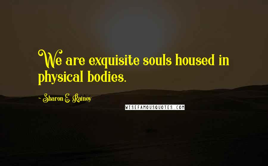 Sharon E. Rainey quotes: We are exquisite souls housed in physical bodies.