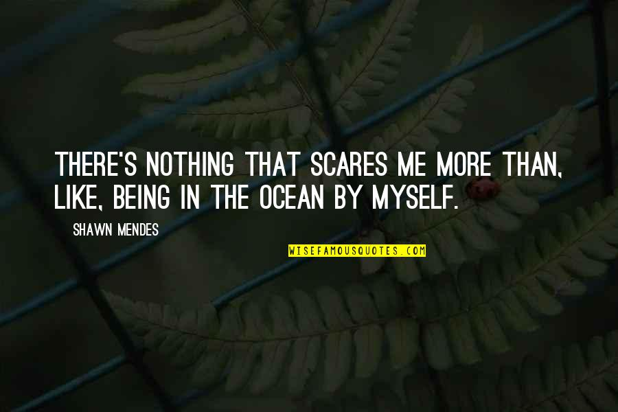 Shawn Mendes Quotes By Shawn Mendes: There's nothing that scares me more than, like,