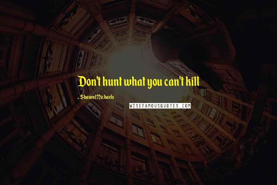 Shawn Michaels quotes: Don't hunt what you can't kill