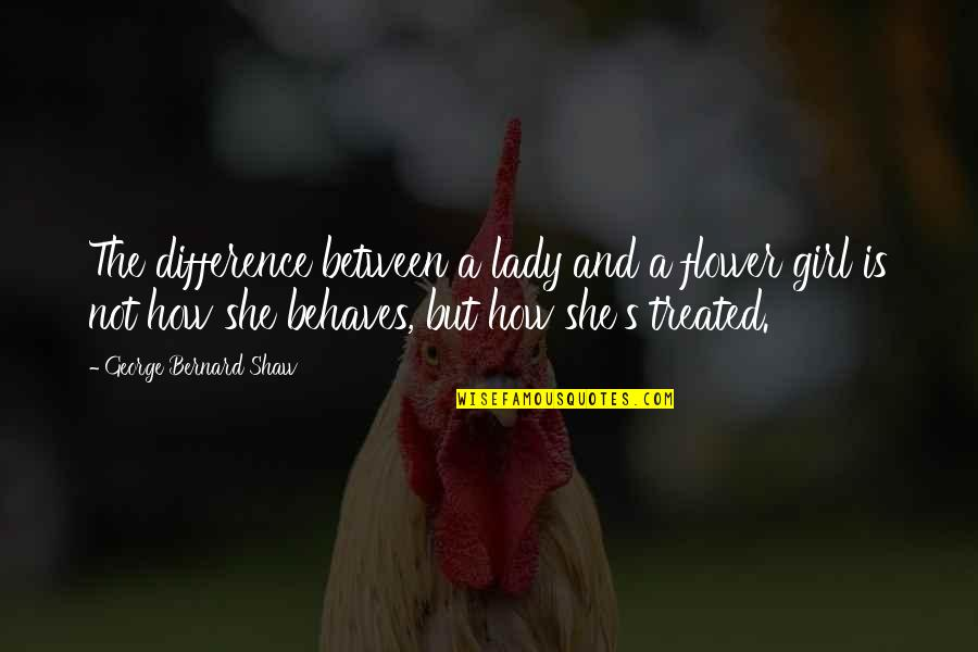 Shaw's Quotes By George Bernard Shaw: The difference between a lady and a flower