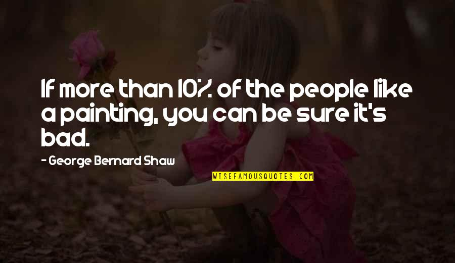 Shaw's Quotes By George Bernard Shaw: If more than 10% of the people like