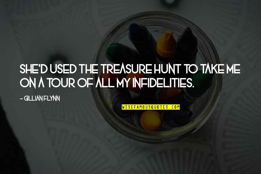 She Used To Quotes By Gillian Flynn: She'd used the treasure hunt to take me