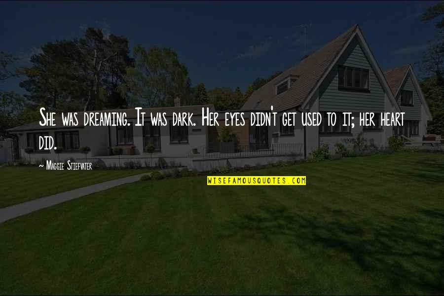 She Used To Quotes By Maggie Stiefvater: She was dreaming. It was dark. Her eyes