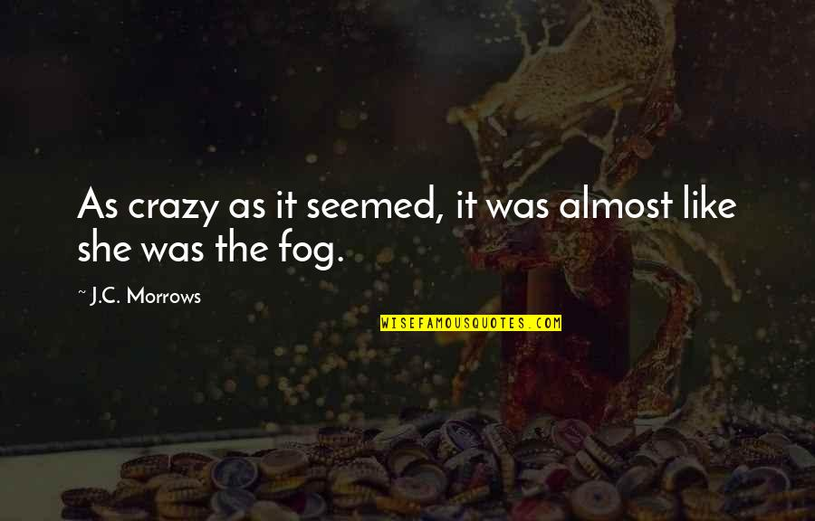 She Was Crazy Quotes By J.C. Morrows: As crazy as it seemed, it was almost