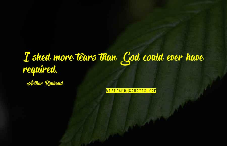 Shed Your Tears Quotes By Arthur Rimbaud: I shed more tears than God could ever