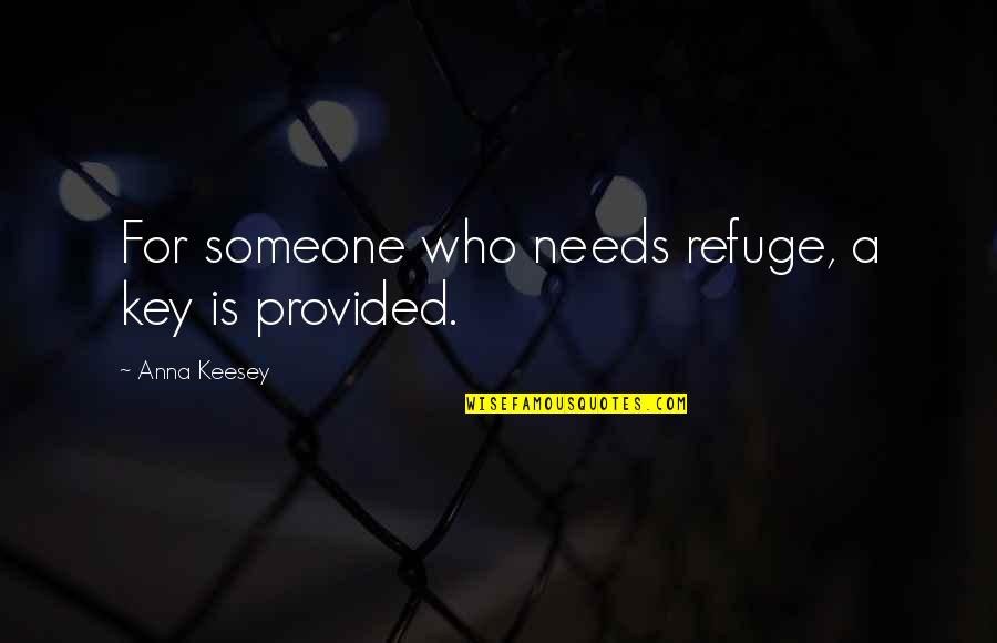 Sheila Cassidy Quotes By Anna Keesey: For someone who needs refuge, a key is