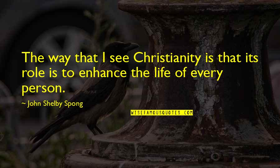 Shelby's Quotes By John Shelby Spong: The way that I see Christianity is that