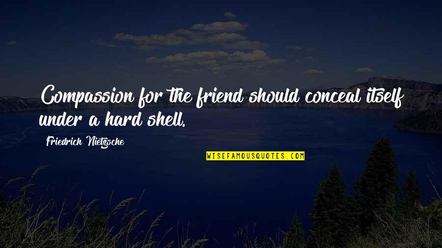 Shells Quotes By Friedrich Nietzsche: Compassion for the friend should conceal itself under