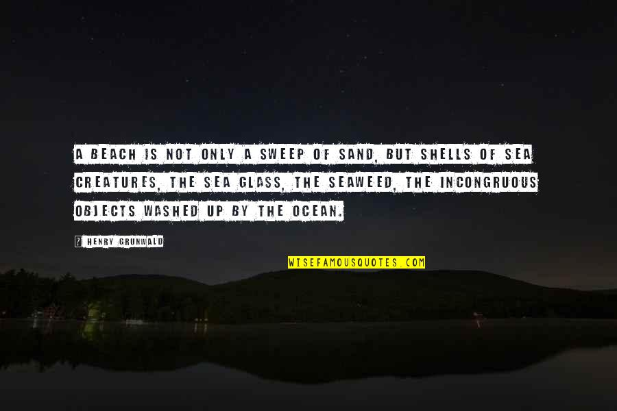 Shells Quotes By Henry Grunwald: A beach is not only a sweep of