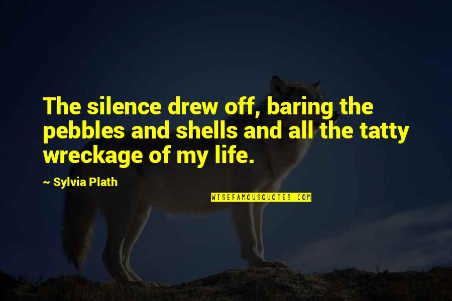 Shells Quotes By Sylvia Plath: The silence drew off, baring the pebbles and