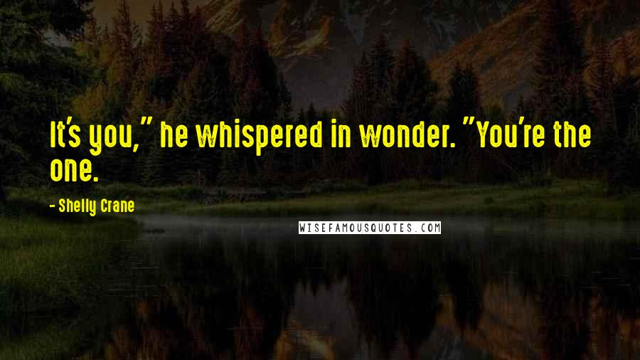 """Shelly Crane quotes: It's you,"""" he whispered in wonder. """"You're the one."""