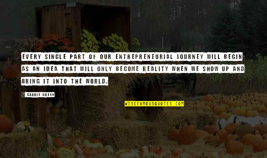 Sheriff Rosco Quotes By Carrie Green: Every single part of our entrepreneurial journey will