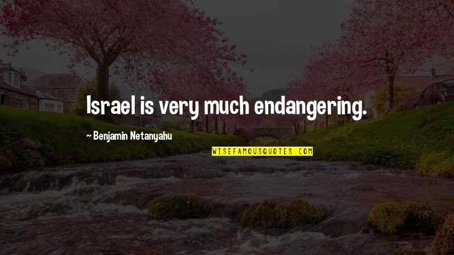 Sherlock Series Memorable Quotes By Benjamin Netanyahu: Israel is very much endangering.