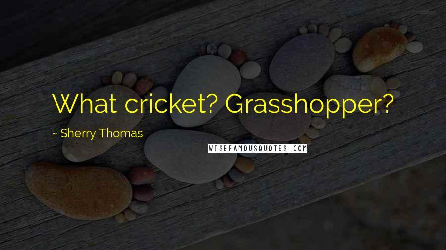 Sherry Thomas quotes: What cricket? Grasshopper?