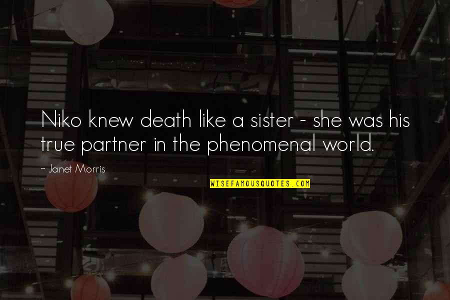 She's Like My Sister Quotes By Janet Morris: Niko knew death like a sister - she