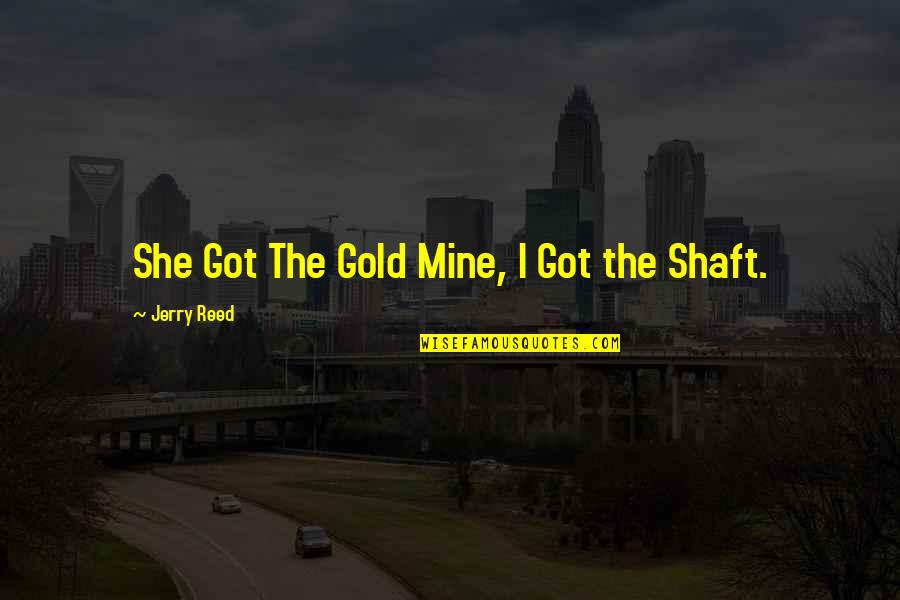 She's Mine Quotes By Jerry Reed: She Got The Gold Mine, I Got the