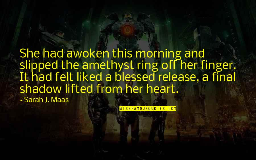 She's Sad Quotes By Sarah J. Maas: She had awoken this morning and slipped the