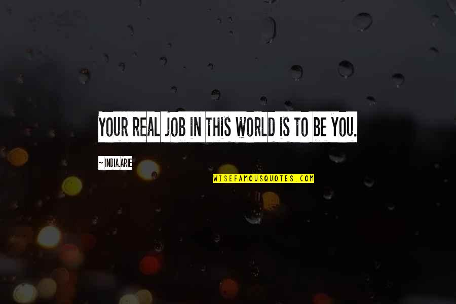She's The Perfect Storm Quotes By India.Arie: Your real job in this world is to