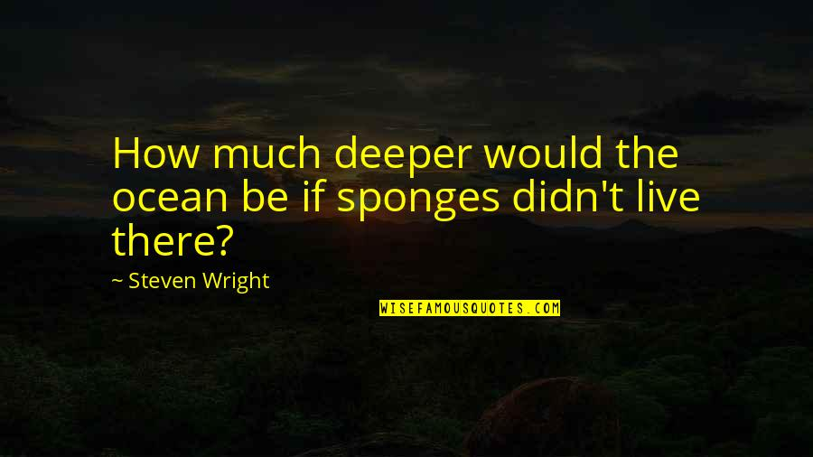 Shifting Focus Quotes By Steven Wright: How much deeper would the ocean be if
