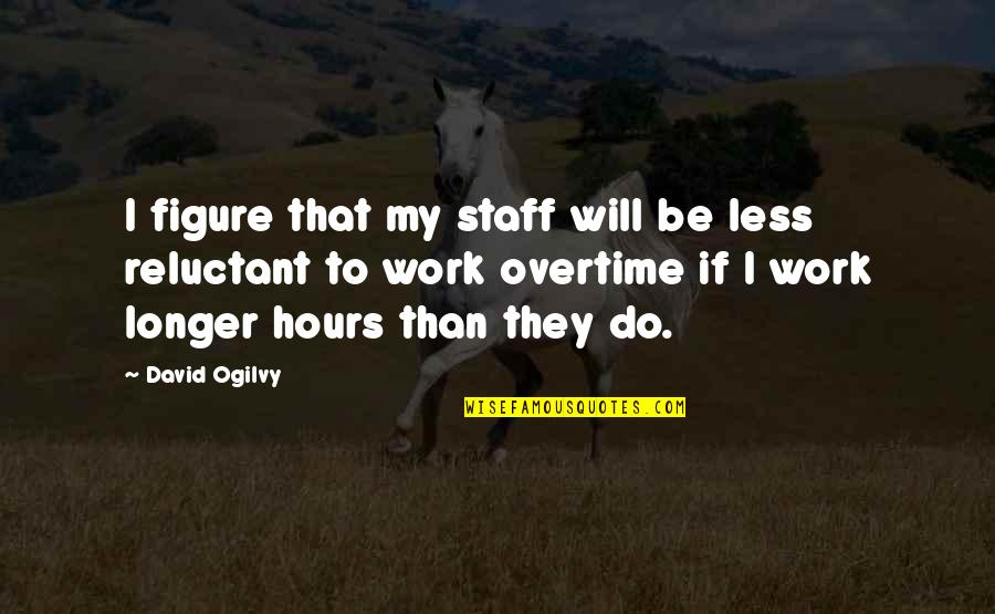 Shifting The Monkey Quotes By David Ogilvy: I figure that my staff will be less