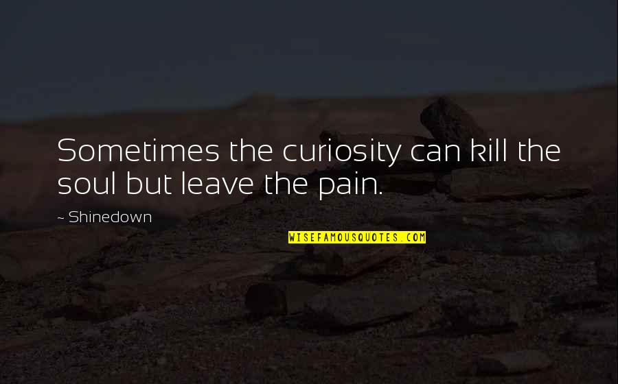Shinedown Quotes By Shinedown: Sometimes the curiosity can kill the soul but