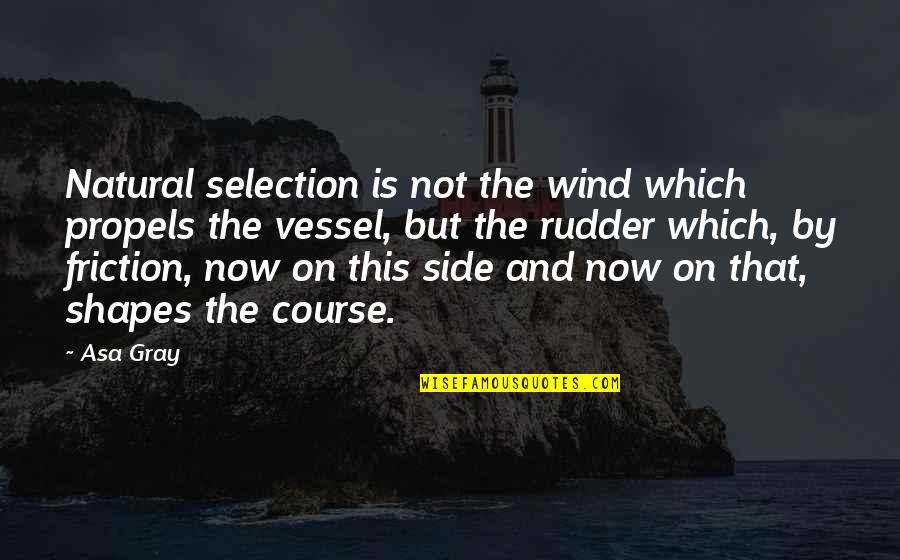 Ship Shape Quotes By Asa Gray: Natural selection is not the wind which propels