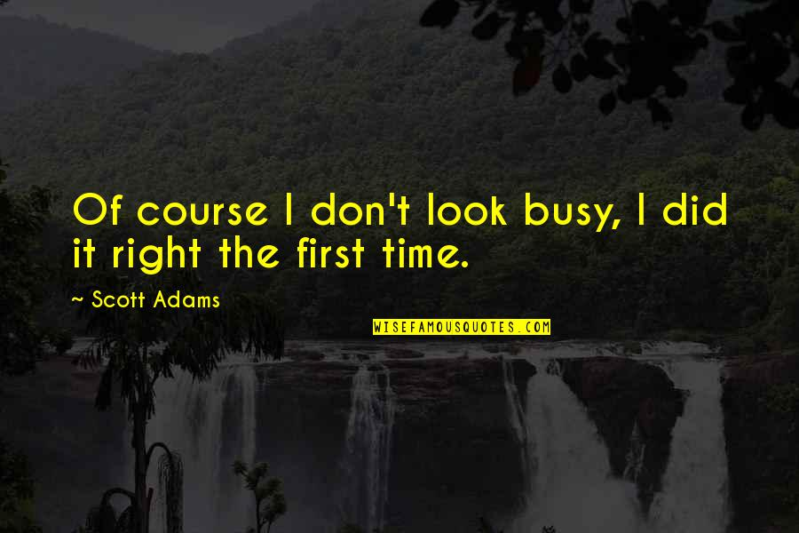 Short And Smart Quotes By Scott Adams: Of course I don't look busy, I did