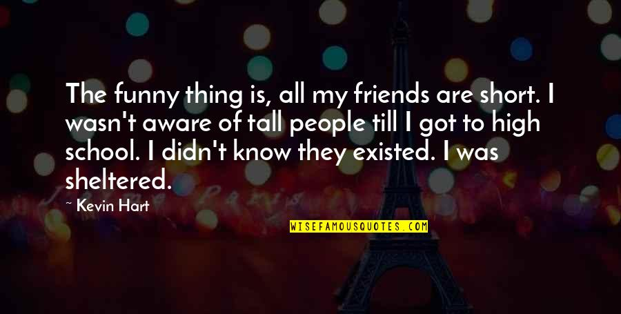 Short And Tall Quotes By Kevin Hart: The funny thing is, all my friends are