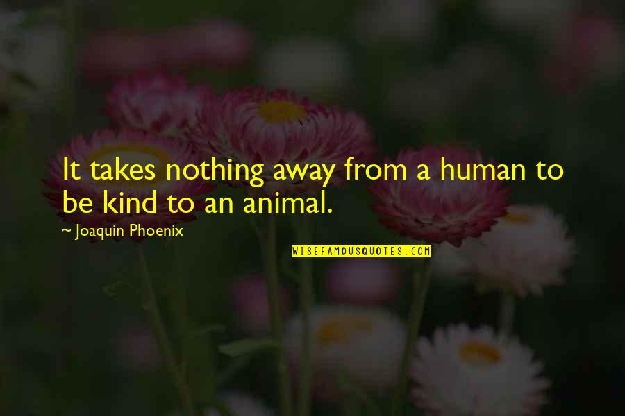 Short Bbm Status Quotes By Joaquin Phoenix: It takes nothing away from a human to