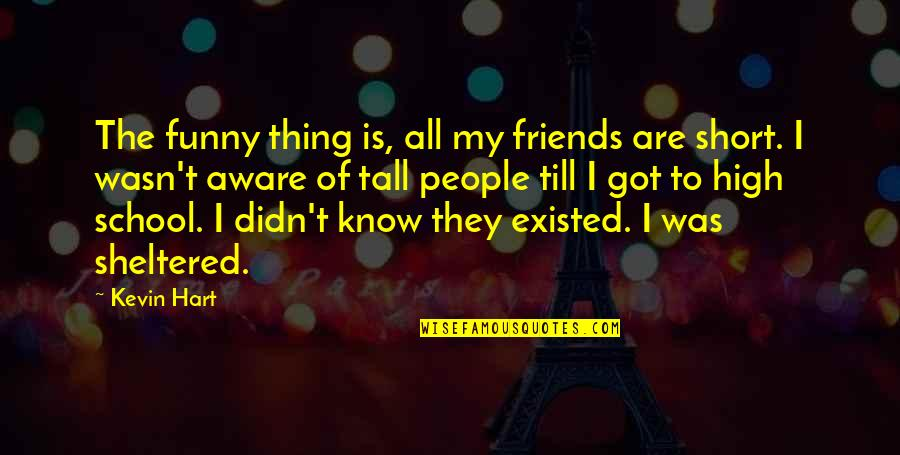 Short Friends Quotes By Kevin Hart: The funny thing is, all my friends are