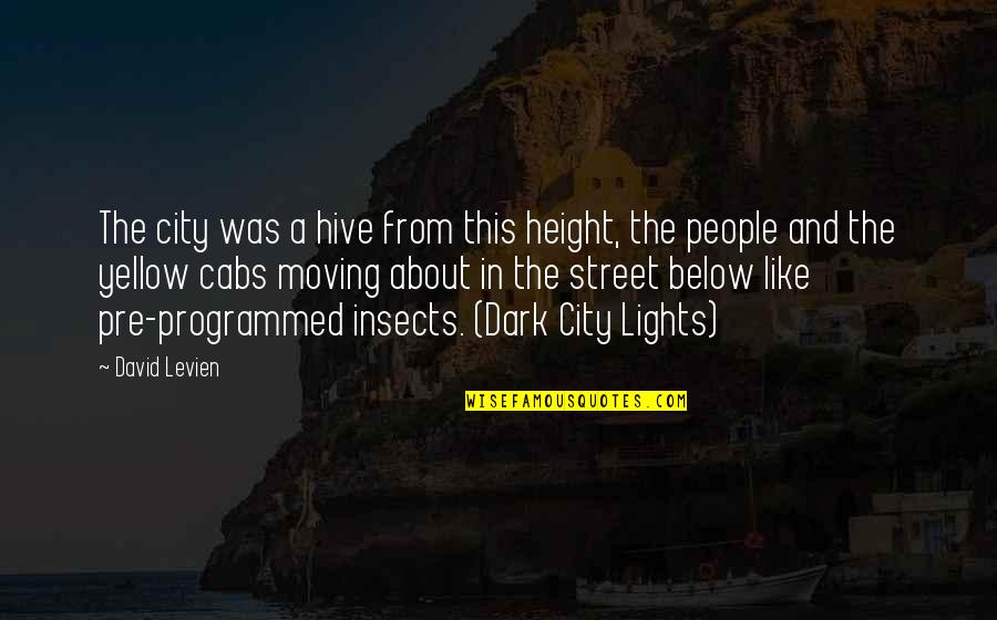 Short Height Quotes By David Levien: The city was a hive from this height,