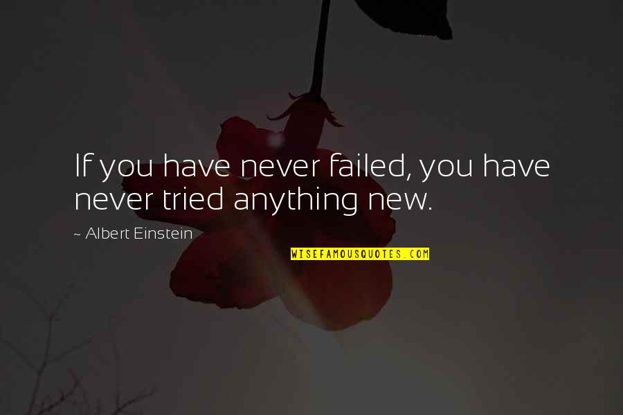 Short Inspirational Quotes By Albert Einstein: If you have never failed, you have never