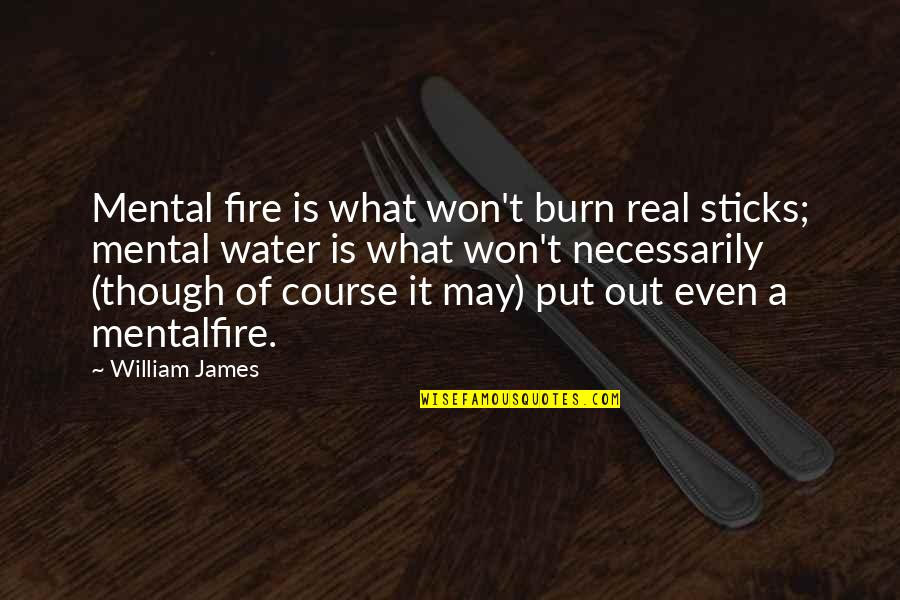 Short Mushroom Quotes By William James: Mental fire is what won't burn real sticks;