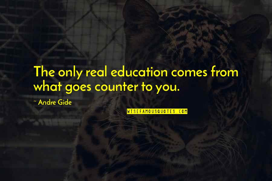 Short Troubled Relationship Quotes By Andre Gide: The only real education comes from what goes