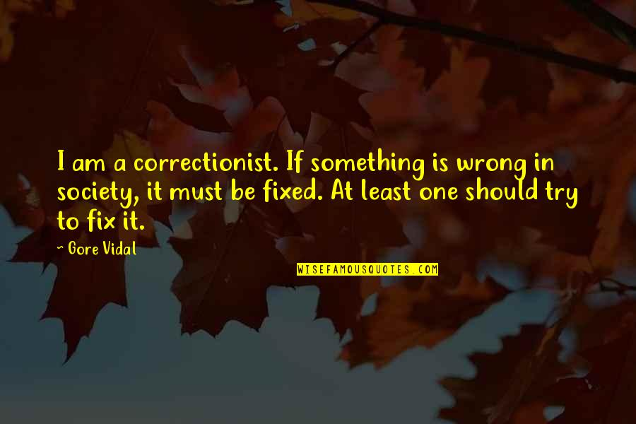 Should I Try Quotes By Gore Vidal: I am a correctionist. If something is wrong