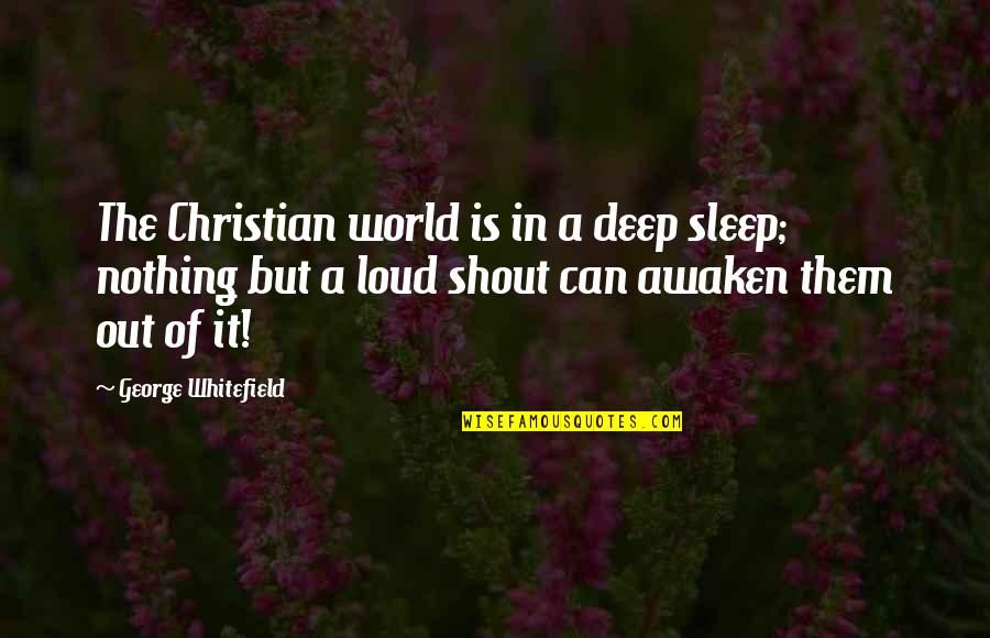 Shout Out Loud Quotes By George Whitefield: The Christian world is in a deep sleep;