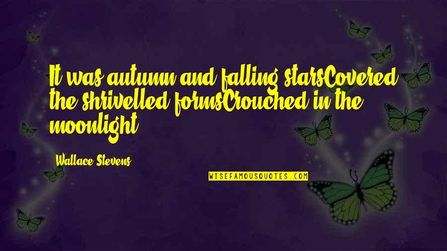 Shrivelled Quotes By Wallace Stevens: It was autumn and falling starsCovered the shrivelled