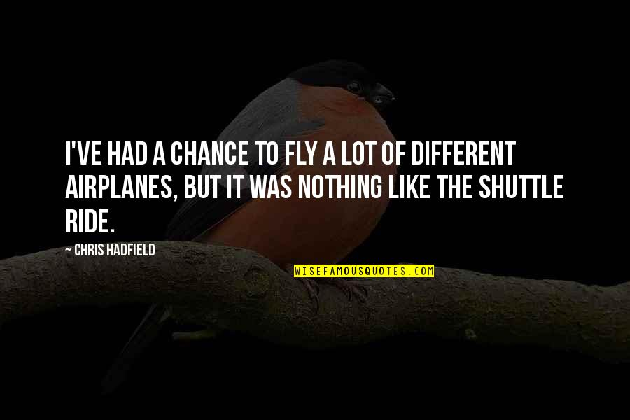 Shuttle Quotes By Chris Hadfield: I've had a chance to fly a lot